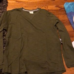 Other - Zara Long sleve T ( green / grey)